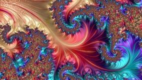 Abstrakcjonistyczny komputer wytwarzający Fractal projekt zdjęcia stock