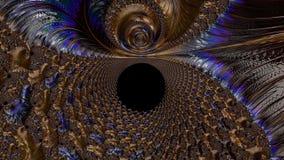 Abstrakcjonistyczny komputer wytwarzający Fractal projekt obraz royalty free