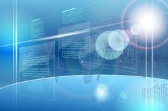 Abstrakcjonistyczny komputerowy przyszłościowy interfejs Zdjęcia Stock