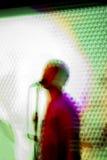 abstrakcjonistyczny koncertowy piosenkarz Zdjęcia Royalty Free