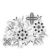 abstrakcjonistyczny konturowy kwiecisty wzór ilustracja wektor