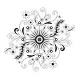 abstrakcjonistyczny konturowy kwiecisty wzór royalty ilustracja