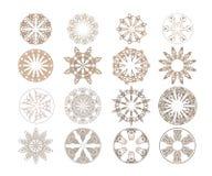 Abstrakcjonistyczny koronkowy round ornament robić w wektorze royalty ilustracja