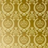 abstrakcjonistyczny korony złota wzór ilustracja wektor