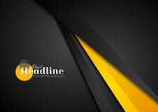 Abstrakcjonistyczny korporacyjny pomarańczowy czarny techniki tło Obraz Stock