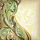 abstrakcjonistyczny koszowy kwiecisty ilustracji