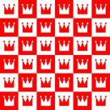 Abstrakcjonistyczny królewski bezszwowy wzór Fotografia Royalty Free