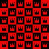 Abstrakcjonistyczny królewski bezszwowy wzór Fotografia Stock