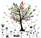 abstrakcjonistyczny kreatywnie drzewo Zdjęcie Royalty Free