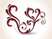 abstrakcjonistyczny kreatywnie kwiecisty serce Zdjęcie Royalty Free