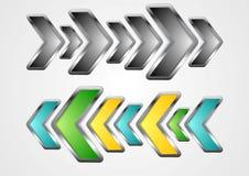 Abstrakcjonistyczny kruszcowy strzała wektoru tło Zdjęcie Stock
