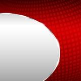 Abstrakcjonistyczny kruszcowy tło z czerwonym elementem Obrazy Stock