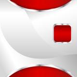 Abstrakcjonistyczny kruszcowy tło z czerwonym elementem Obraz Royalty Free