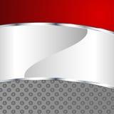 Abstrakcjonistyczny kruszcowy tło z czerwonym elementem Fotografia Stock