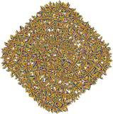Abstrakcjonistyczny kształt Kolorowa wyplatająca gmatwanina Abstrakcjonistyczny pogmatwanie ilustracja wektor