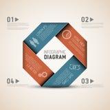 Abstrakcjonistyczny kształt z Infographic Obrazy Stock