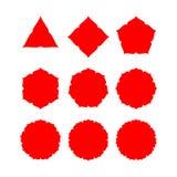Abstrakcjonistyczny kształt z rozmaitością wskazującą Zdjęcie Stock