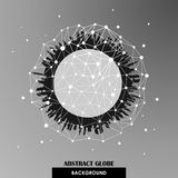 Abstrakcjonistyczny kuli ziemskiej sieci związków wektoru backgrou Zdjęcie Royalty Free