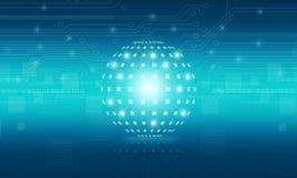 Abstrakcjonistyczny kuli ziemskiej technologii cyfrowej tło Zdjęcie Stock