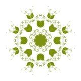 Abstrakcjonistyczny kurenda wzór zieleń ilustracja wektor