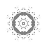 Abstrakcjonistyczny kurenda wzór zmrok - szarość barwią royalty ilustracja