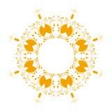 Abstrakcjonistyczny kurenda wzoru kolor żółty ilustracja wektor