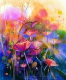 Abstrakcjonistyczny kwiat akwareli obraz ilustracja wektor
