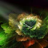 Abstrakcjonistyczny kwiat, komputer wytwarzał grafikę Zdjęcia Stock