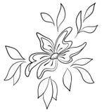 Abstrakcjonistyczny kwiat, kontury Obrazy Stock