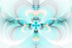 Abstrakcjonistyczny kwiat na białym tle Zdjęcia Stock