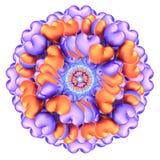 Abstrakcjonistyczny kwiat serce kształtujący przyjęcie szybko się zwiększać pomarańczowego błękit Zdjęcie Royalty Free