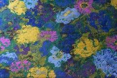 Abstrakcjonistyczny kwiat tkaniny wzór Obraz Royalty Free