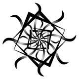 Abstrakcjonistyczny kwiat w chaotycznych ramach ilustracja wektor