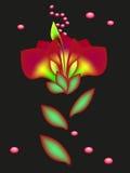 Abstrakcjonistyczny kwiat z kroplami Zdjęcie Royalty Free