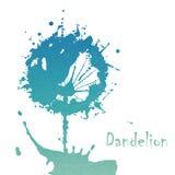Abstrakcjonistyczny kwiatu dandelion ilustracji