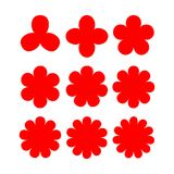 Abstrakcjonistyczny kwiatu kształt z rozmaitością wskazującą Zdjęcia Royalty Free