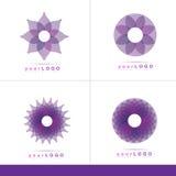 Abstrakcjonistyczny kwiatu logo Obrazy Stock