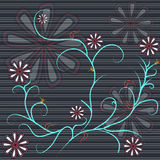 Abstrakcjonistyczny kwiatu tło ilustracji