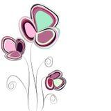 Abstrakcjonistyczny kwiatu tło Fotografia Stock