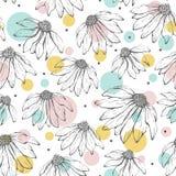 Abstrakcjonistyczny kwiatu wzór Zdjęcia Royalty Free