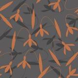 Abstrakcjonistyczny kwiatu wzór na popielatym tle Fotografia Royalty Free