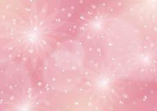 Abstrakcjonistyczny Kwiecisty światło - różowy tło royalty ilustracja