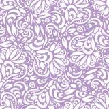 Abstrakcjonistyczny kwiecisty bezszwowy wzór, tło z białymi liśćmi EPS10 zdjęcia royalty free