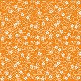 Abstrakcjonistyczny kwiecisty dekoracyjny batikowy bezszwowy wzór Obraz Stock