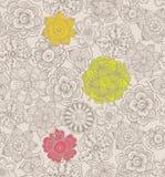 abstrakcjonistyczny kwiecisty deseniowy bezszwowy Zdjęcie Royalty Free