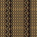 abstrakcjonistyczny kwiecisty deseniowy bezszwowy wektor Czarny tło z t Zdjęcie Stock
