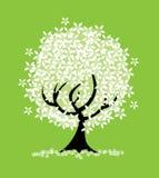 abstrakcjonistyczny kwiecisty drzewo Zdjęcia Royalty Free