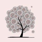 Abstrakcjonistyczny kwiecisty drzewo dla twój projekta royalty ilustracja