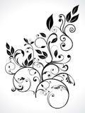 abstrakcjonistyczny kwiecisty liść Zdjęcia Royalty Free