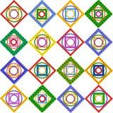 Abstrakcjonistyczny kwiecisty mozaika wzór Zdjęcie Royalty Free